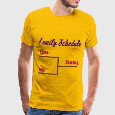 Family Schedule - Premium T-skjorte for menn