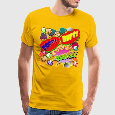 Comic Book Biff! Boff! Bang!! - Men's Premium T-Shirt