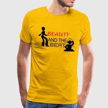 Beauty and the Beat - Mannen Premium T-shirt