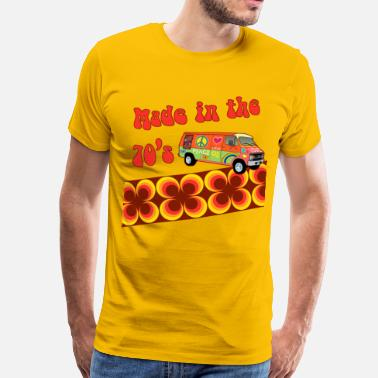 Flower Power made in the 70s - Männer Premium T-Shirt