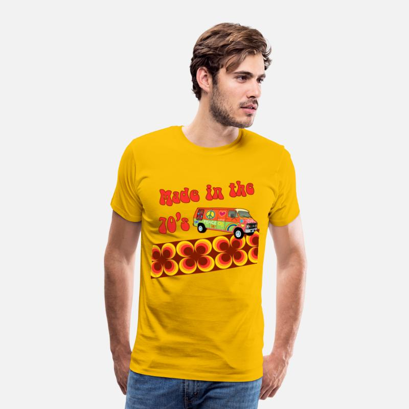 Hippie T-shirts - made in the 70s - T-shirt premium Homme jaune soleil