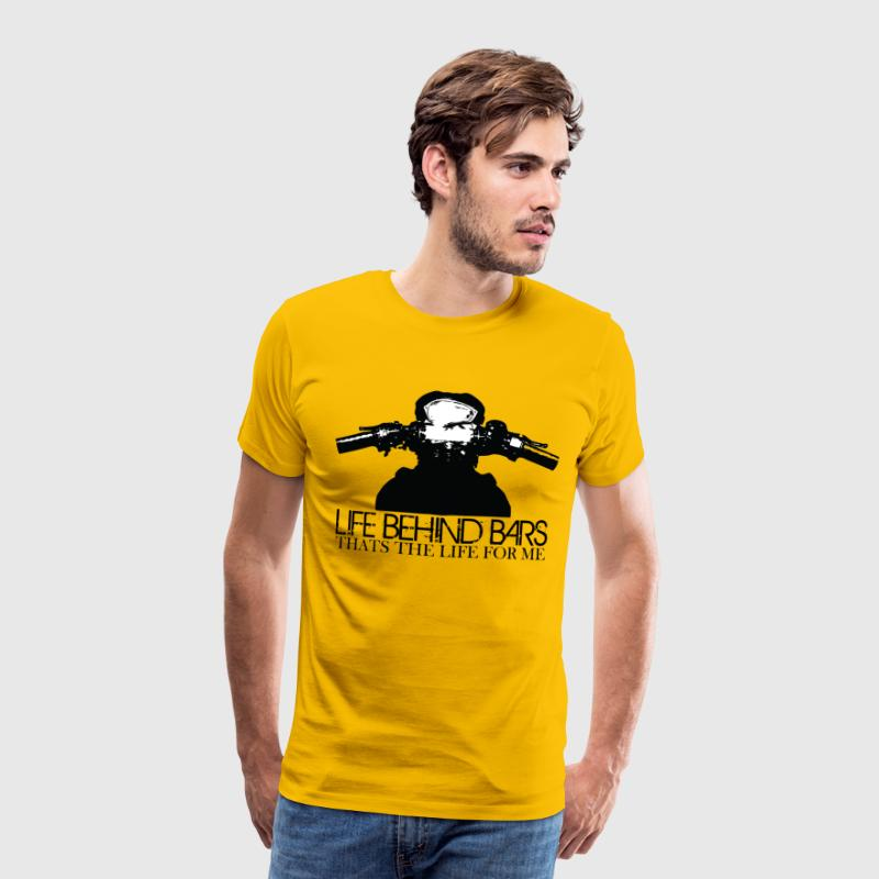 Life Behind Motorcycle Bars - Men's Premium T-Shirt