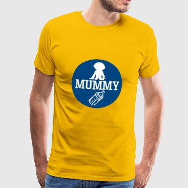 pregnant baby child born birth gift idea - Men's Premium T-Shirt