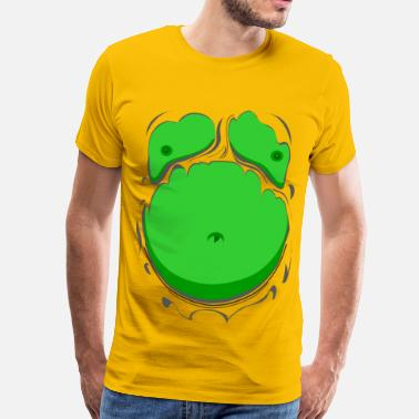 Hulk Stag Comic Fat Belly Green, beer gut, beer belly, chest t-shirt - Men's Premium T-Shirt