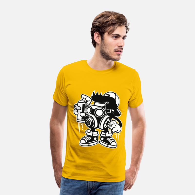 Gift T-Shirts - BOMB GRAFFITI - cartoon en komische shirt design - Mannen premium T-shirt zongeel