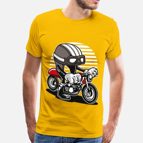 8fb1bce0c8adf COMIC CAFE RACER - Comic Cartoon Design Chemise T-shirt premium Homme    Spreadshirt