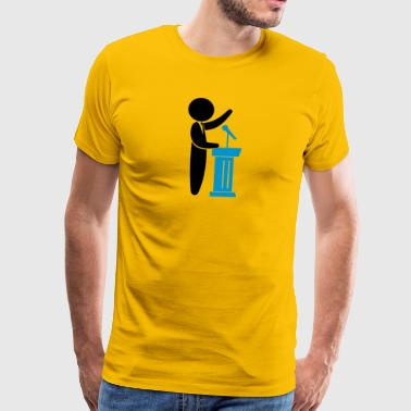 A Politician Speaks To His Constituents - Men's Premium T-Shirt