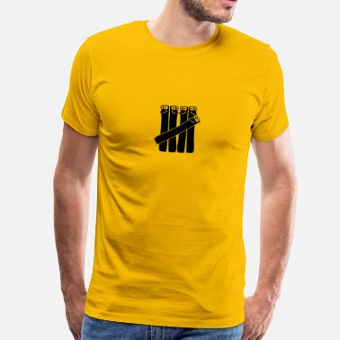 Strich Comic Zahl 5 Fünf Striche Comic Cartoon Lustig - Männer Premium T-Shirt