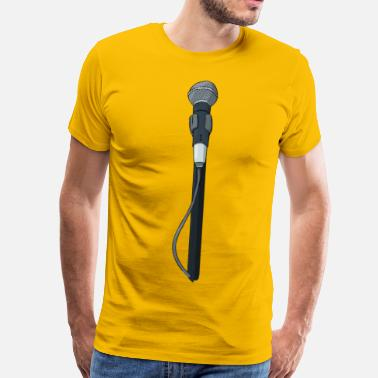 Microphone At the microphone - Men's Premium T-Shirt