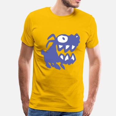 Bow Wow Bow Wow! Blue Cartoon Dog by Cheerful Madness!! - Men's Premium T-Shirt