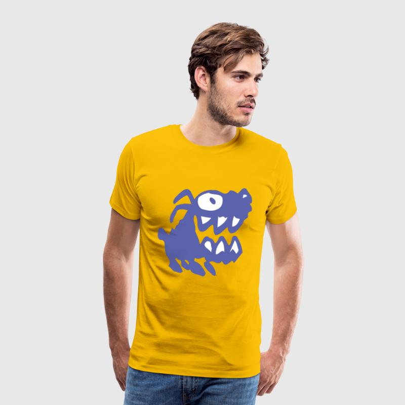 Bow Wow! Blue Cartoon Dog by Cheerful Madness!! - Men's Premium T-Shirt