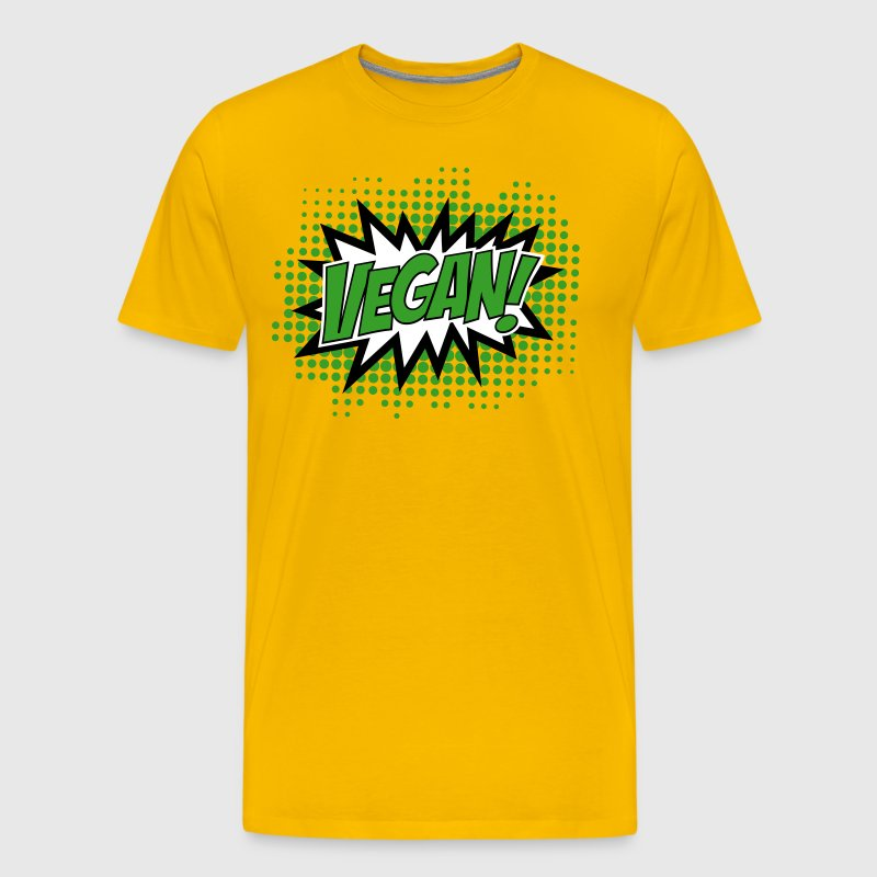 Vegan, Comic Book Style, Green, Explosion, 3c - Men's Premium T-Shirt