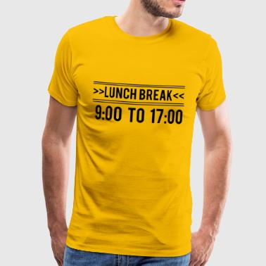 Lunch Break - Mittagspause - Männer Premium T-Shirt