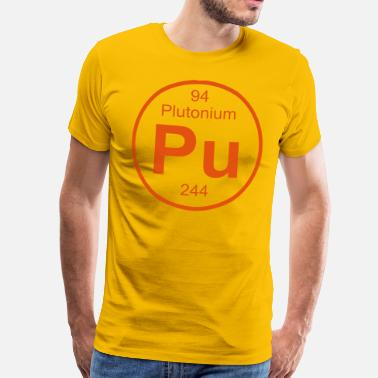 Plutonium Element 94 - pu (plutonium) - Full (round) - Mannen Premium T-shirt