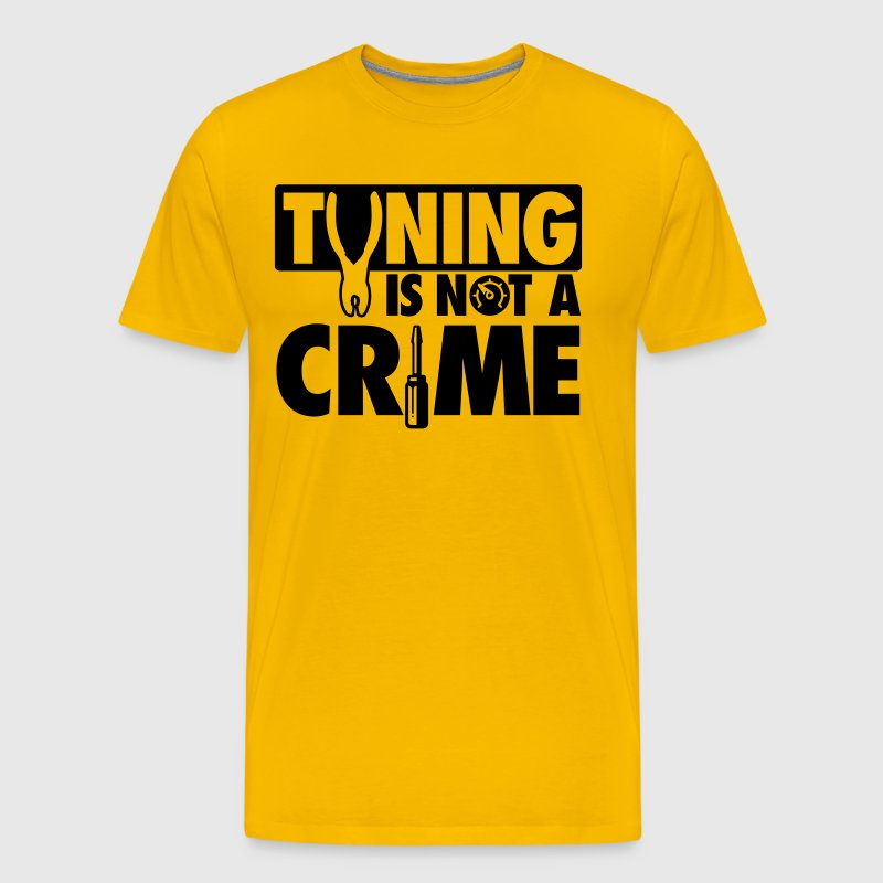 Tuning is not a crime - Mannen Premium T-shirt