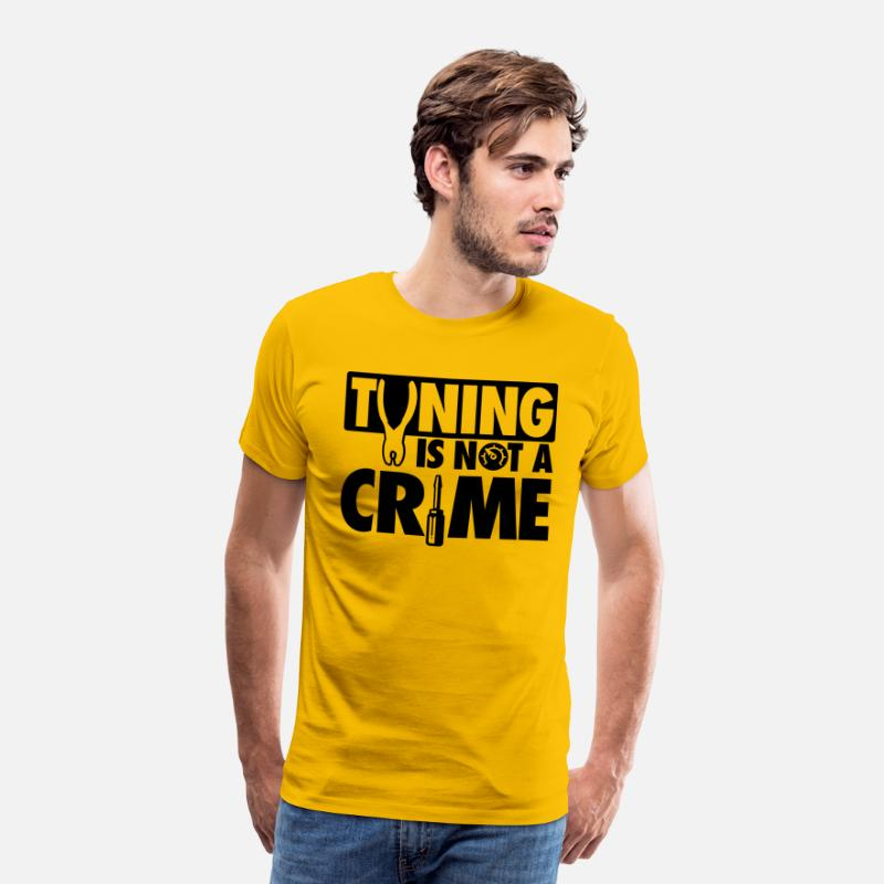 Tuning T-Shirts - Tuning is not a crime - Mannen premium T-shirt zongeel