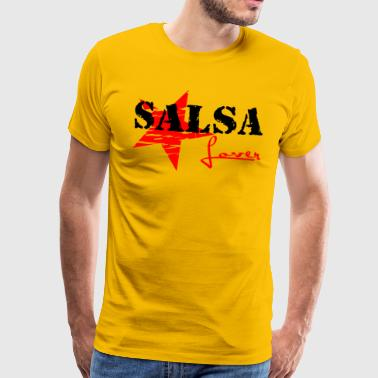 Salsa Lover black - Red Star - Salsa Dance Shirts - Männer Premium T-Shirt