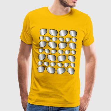 Mirrored sunglasses - Men's Premium T-Shirt