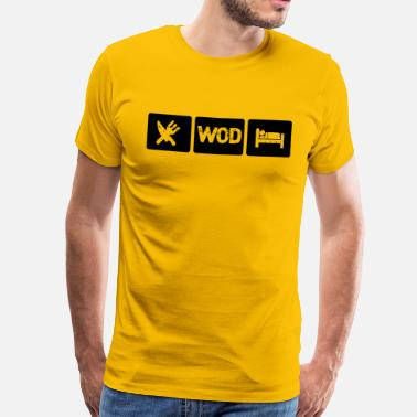 Wod Eat WOD Sleep - Crossfit - Men's Premium T-Shirt