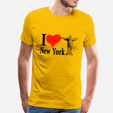 I love New York (and Rio) - Mannen Premium T-shirt