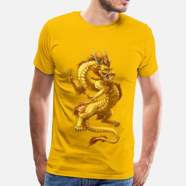 Chinese Dragon chinesischer Drache - Men's Premium T-Shirt