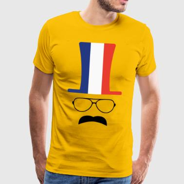 Fan de hipster de football de drapeau de la France - T-shirt Premium Homme