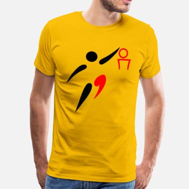 Basketball Logo basketball - Men's Premium T-Shirt