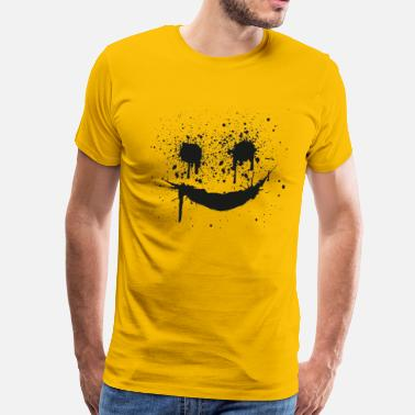 smilie smiley smileys gesicht face - Premium T-skjorte for menn