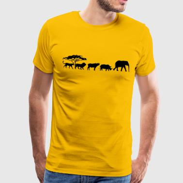 Big Five Big Five in the savannah - Men's Premium T-Shirt