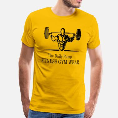 Funny Gym Daily Pumppu Fitness Gym Wear - Miesten premium t-paita