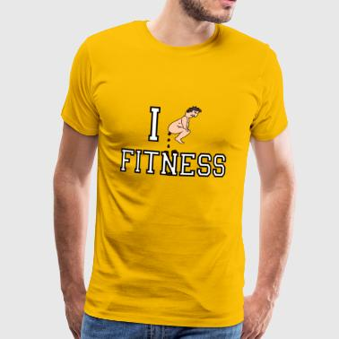 I shit on Fitness - Camiseta premium hombre