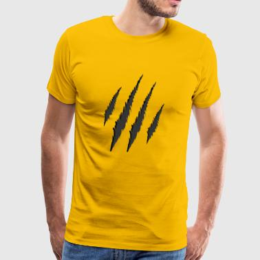 tiger stripes tiger cat marks claws gift - Men's Premium T-Shirt