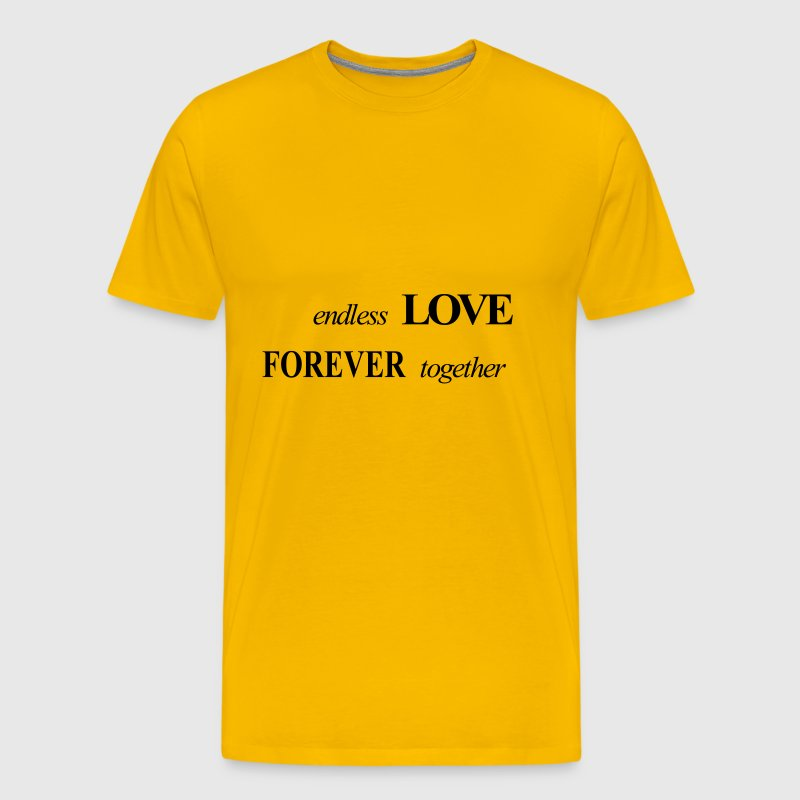 endless LOVE FOREVER together - Men's Premium T-Shirt