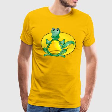 krokodille Alligator - Premium T-skjorte for menn