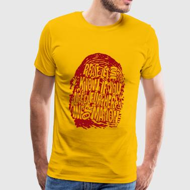 Fingerprint DNA (red) - Männer Premium T-Shirt