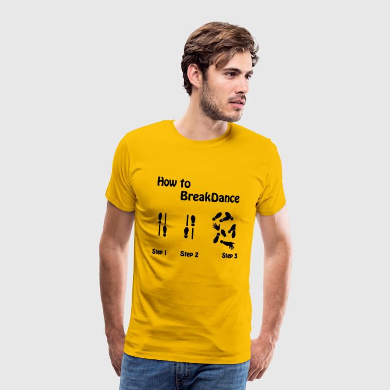 How to Breakdance - Men's Premium T-Shirt