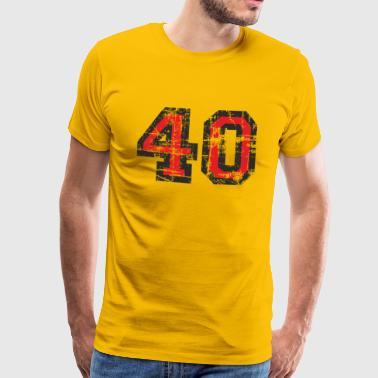 Nummer 40 Forty 40-årsdag Design (NO) - Premium T-skjorte for menn