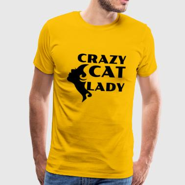 CRAZY CAT LADY black - Men's Premium T-Shirt