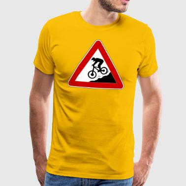 Traffic sign Achtung Downhiller - Men's Premium T-Shirt