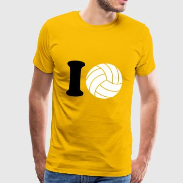I Love Volleyball I love Volleyball - Camiseta premium hombre