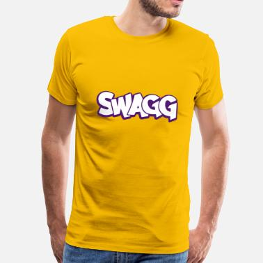 Swag Swagg Swagg graff outlined - Men's Premium T-Shirt