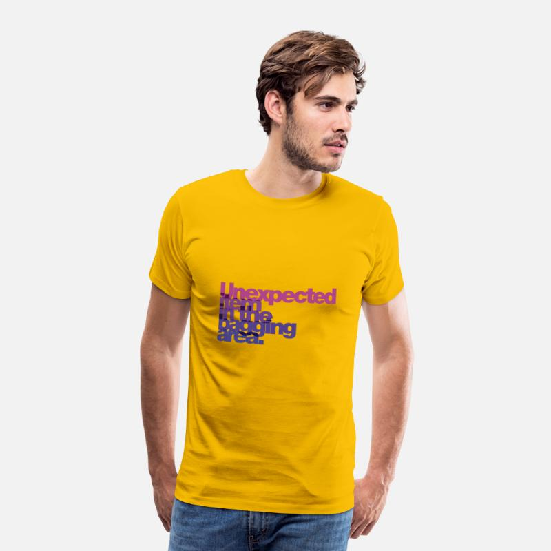 Area T-Shirts - unexpected item in the bagging area - Men's Premium T-Shirt sun yellow