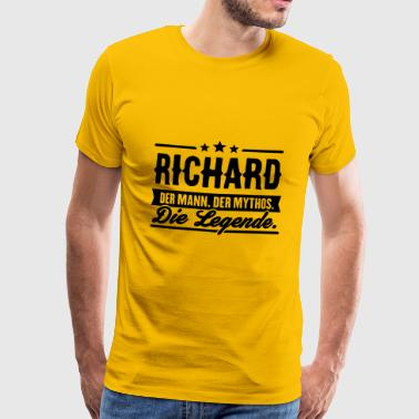Man Myth Legend Richard - Premium T-skjorte for menn