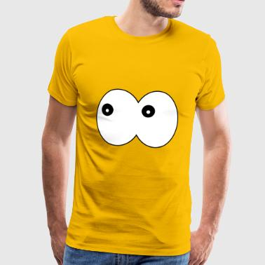 Funny eyes - comic googly eyes looking to the left - Men's Premium T-Shirt