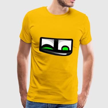Quatschicon Petzaugenbob Emoji Smiley Emoticon - Männer Premium T-Shirt