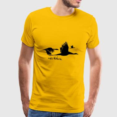 flock Of birds - Men's Premium T-Shirt