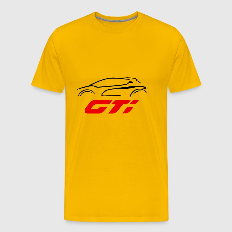 Red GTI logo - Men's Premium T-Shirt