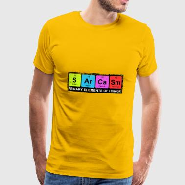 Sarcasm Periodic Elements Of Humor - Männer Premium T-Shirt
