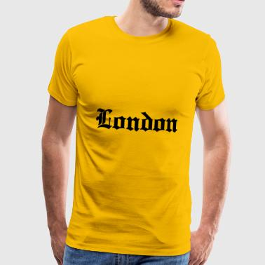 London bogstaver - Herre premium T-shirt