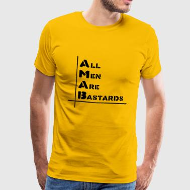 Cops All men are bastards - Men's Premium T-Shirt